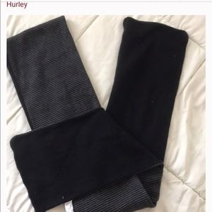 Hurley reversible striped scarf